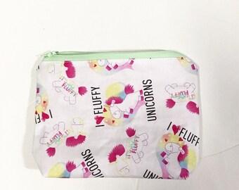 fluffy unicorn makeup  pencil bag 352919469623b