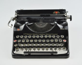 1940s Groma Modell E Working Typewriter, Vintage Typewriter, Typewriter with Case, Portable Typewriter, Vintage Typewriter,Manual Typewriter