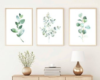 Eucalyptus Wall Art, Set Of 3 Botanical Prints, Greenery Artwork, Digital  Download, Printable Bedroom Wall Decor Idea, Crazy Plant Lady Best