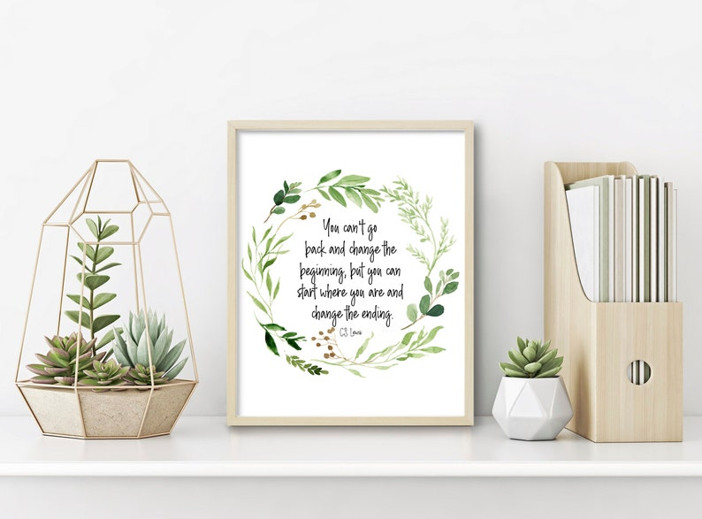 Motivational Poster Inspirational Wall Art Recovery Anniversary CS Lewis Quote AA Sponsor Gift Alcoholics Anonymous Sobriety Gift