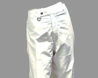 c5e9d8f7e631 Vintage Powderline White Shell Pants   GORE-TEX   Waterproof   Hike Snow  Ski Outdoor Pants   Women s M L