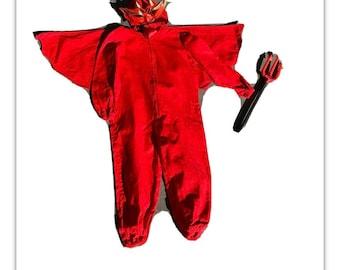 Vintage Childs Devil Halloween Costume