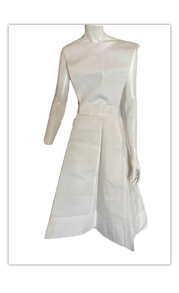 Vintage White Nurse Uniform / Apron Bib