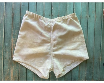 Vintage 1940s Athletic Twill  Gym Shorts Distressed AMCO Athletic Apparel