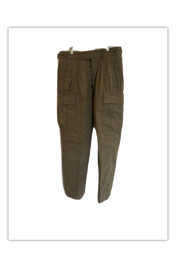 Vintage Wool German Military Cargo Pants