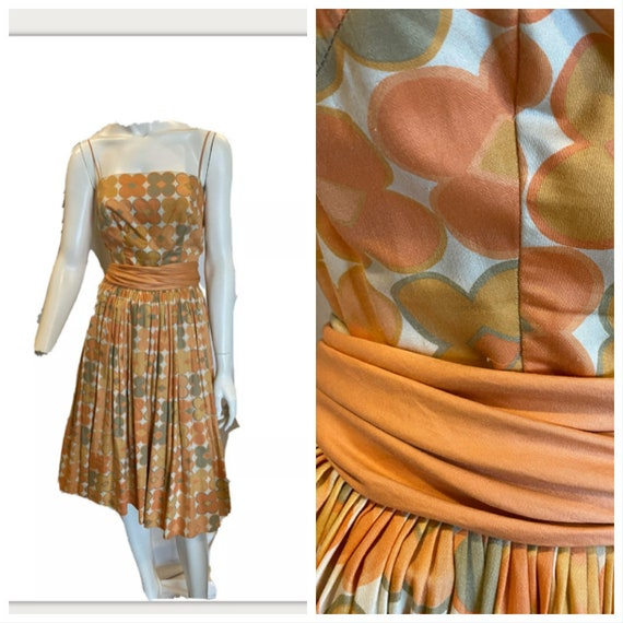 Vintage 50s Spaghetti Strap Cotton Sundress