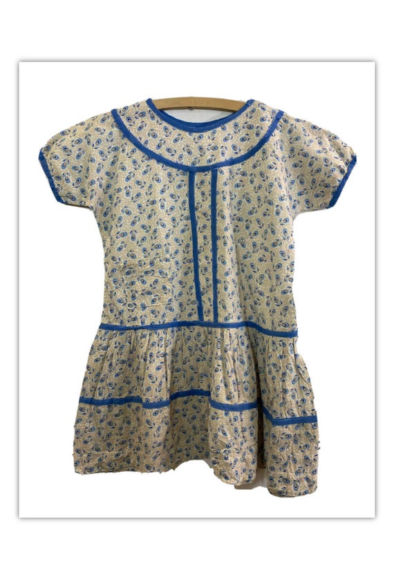 Vintage 30s Girls Feedsack Dress