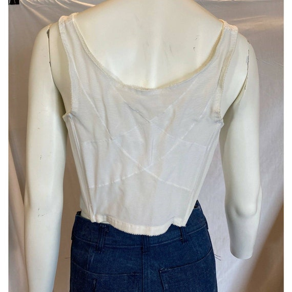 Vintage White Lace Bestform Bustier Corset Bra Si… - image 3