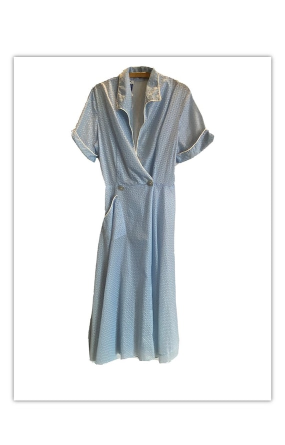 Vintage 40s blue sheer dressing gown