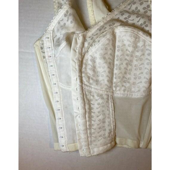 Vintage White Lace Bestform Bustier Corset Bra Si… - image 5