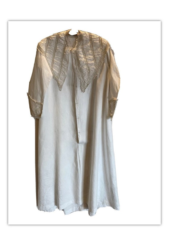 Antique Edwardian Lace Collar Nightgown