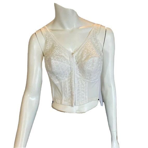 Vintage White Lace Bestform Bustier Corset Bra Si… - image 1