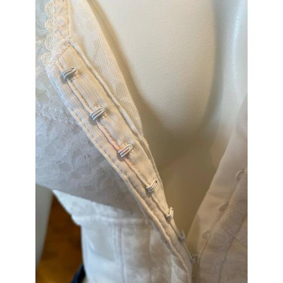 Vintage White Lace Bestform Bustier Corset Bra Si… - image 8
