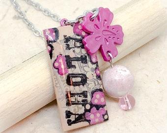 Aloha, aloha jewelry, Hawaii, Hawaiian jewelry, Aloha necklace, Aloha pendant, travel, hibiscus, hibiscus necklace