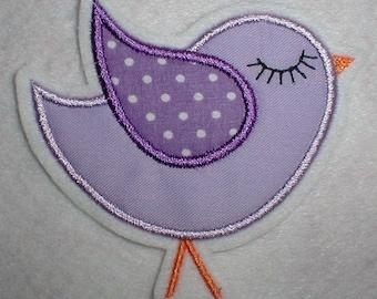 Patch Lilac bird-bird appli