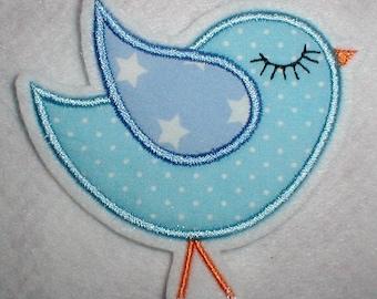 Patch Blue/Blue Star bird-bird appli