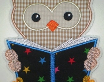 Patch Large owl with book application