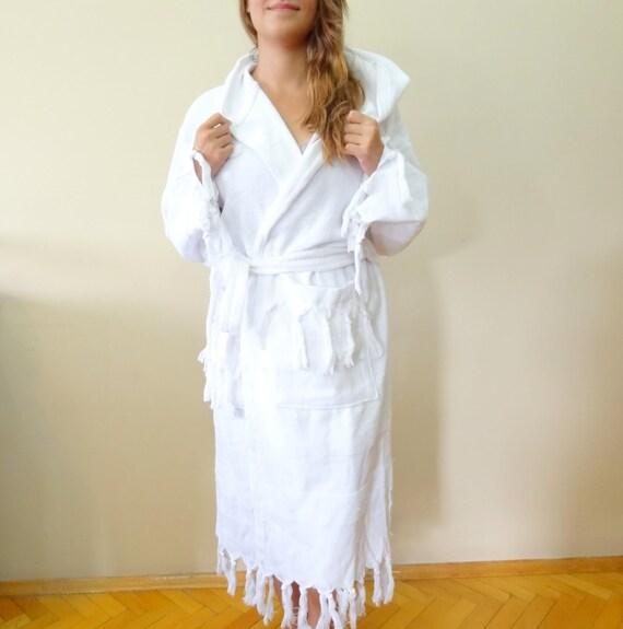 Robe de plage de bain robe Organic Turque Coton Multi-Color peshtemal Peignoir