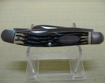 Winchester - Stockman - Folding Three Blade Pocket Knife with Faux Stag Handle - As New /No Box