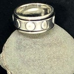 Moon Phase Spinner Ring made in 925 Sterling Silver, Celestial Ring