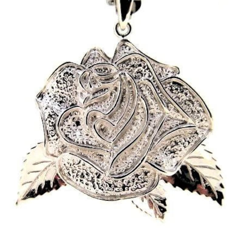 Grateful Dead inspired Sterling Silver American Beauty Rose image 0