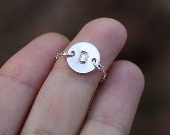 Gold Infinity Bird Bracelet Two Initials Letter
