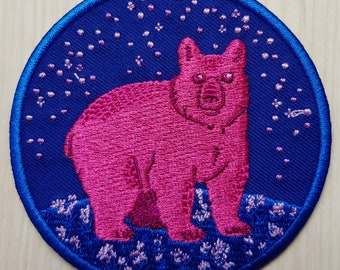 Bi Bear Iron-on Patch