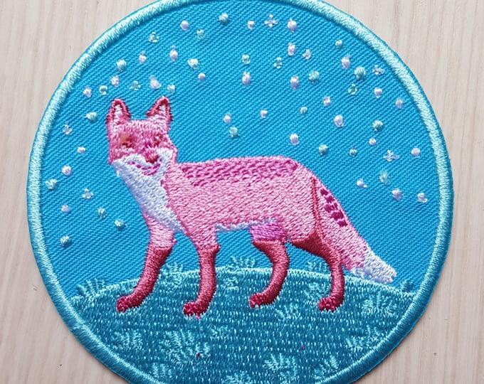 Trans Fox Iron-on Patch
