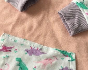 Very Lörge Pastel Dinosaur Hoodie - Hoodie-dress by Sophie Labelle