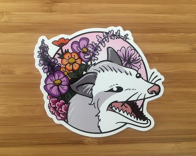 Flower Opossum - vinyle sticker