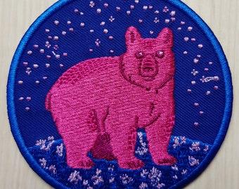 Bi Bear Iron-on Patch