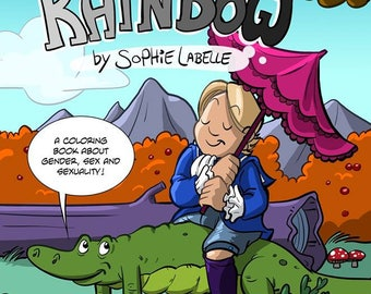PDF - Add your own colors to the Rainbow! Coloring book by Sophie Labelle