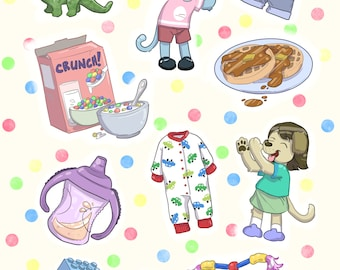 Preorder - Sippy Cup Sticker sheet!