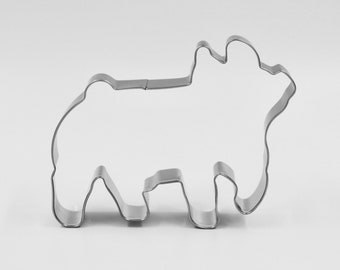 "4.25/"" Cow Face Head Tin Steel Cookie Cutter Farm Barnyard Animal Dairy Farm"