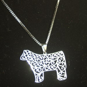 Laser Engraved Wooden Cameo Necklace Featuring Farm Animal - Gifts for Her Pig Pendant Any Color - Custom Made