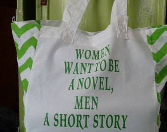 Women Want To Be A Novel Market Tote Bag