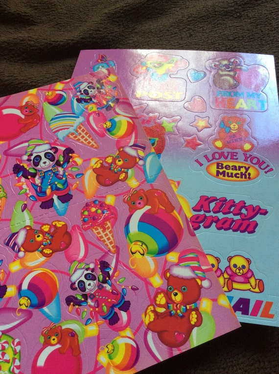 Vintage Lisa Frank Christmas And Valentines Day Stickers