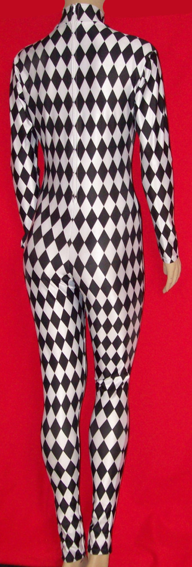 6987735712d1 Harlequin Diamonds Stretch Spandex Unitard Catsuit Bodysuit