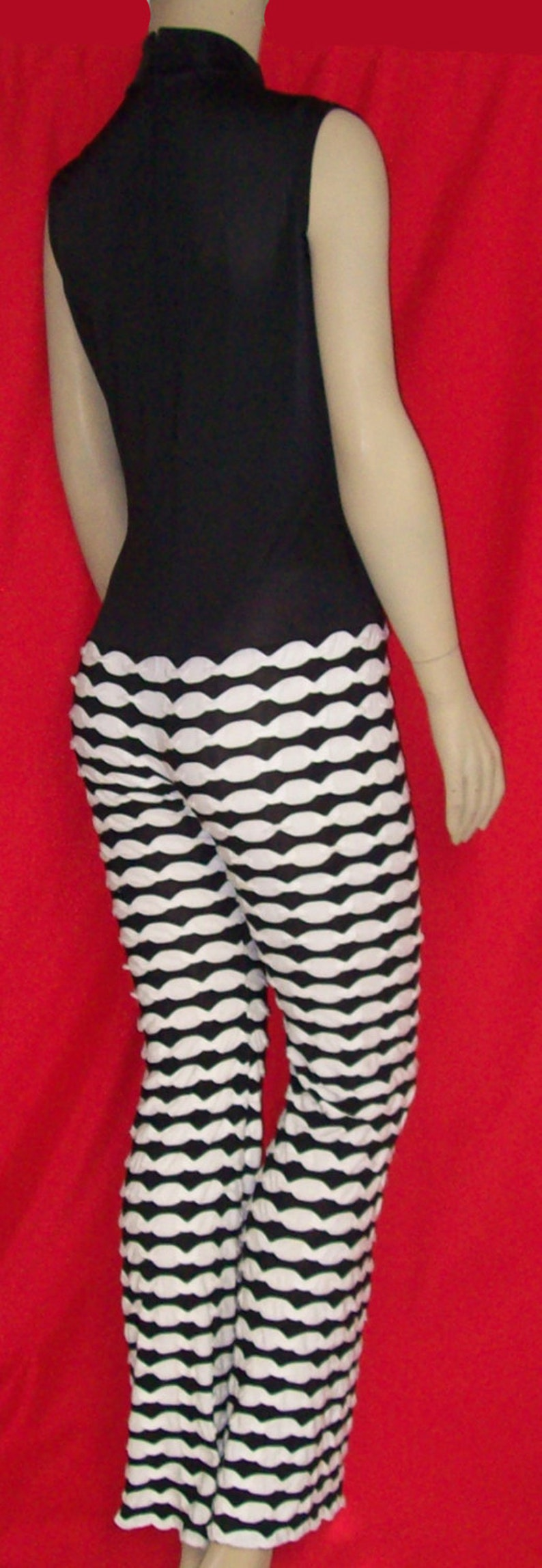 f44a78e14a28 Jumpsuit Black Stretch Spandex Sleeveless Top   Black and