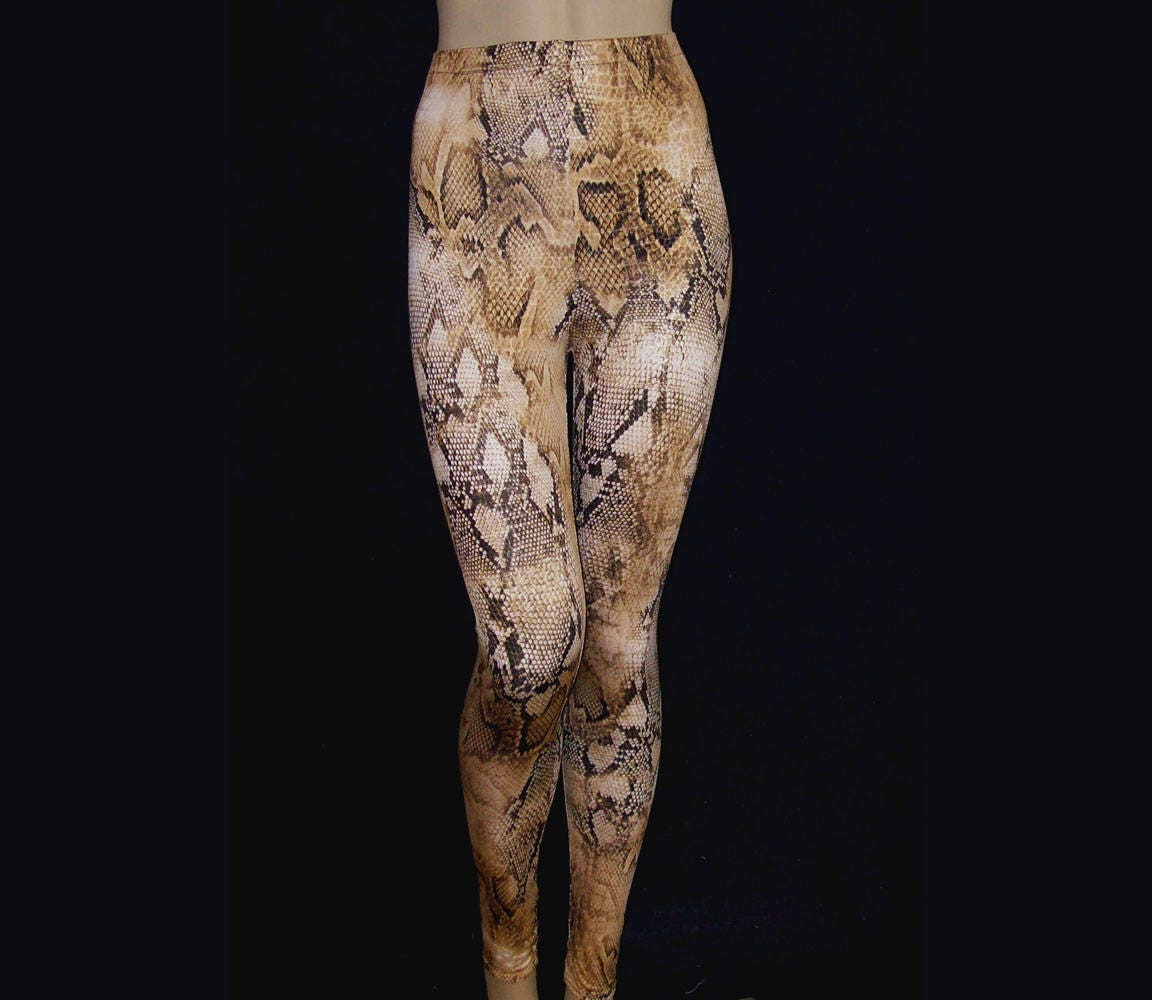 Poster Weights Etsy: Leggings Snake Print Light Weight Stretch Spandex High