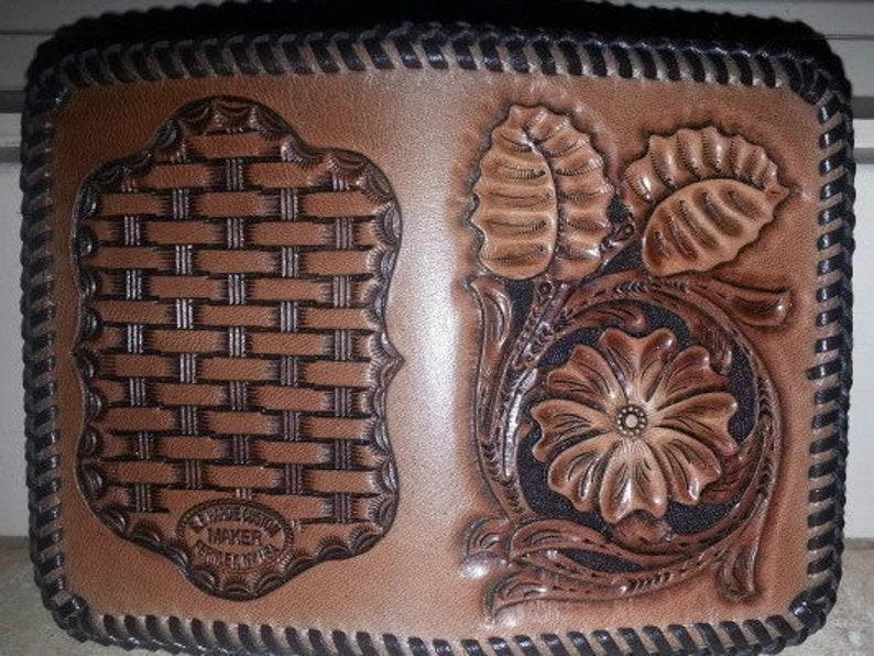 Handmade Leather Front Pocket Wallet  Sheridan Inspired image 0