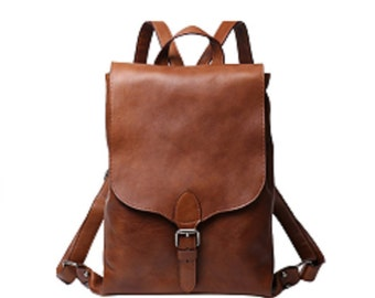 4692003cc Sac à dos, Leather Backpack Women, Leather Backpack Purse, Minimalist Leather  Backpack, Brown Leather Backpack, Leather Rucksack