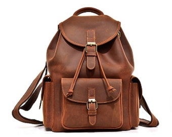 Brown leather backpack  450075207e