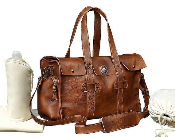 9af387fa992e Leather Diaper Bag Leather Diaper Bag Shoulder Bag Leather