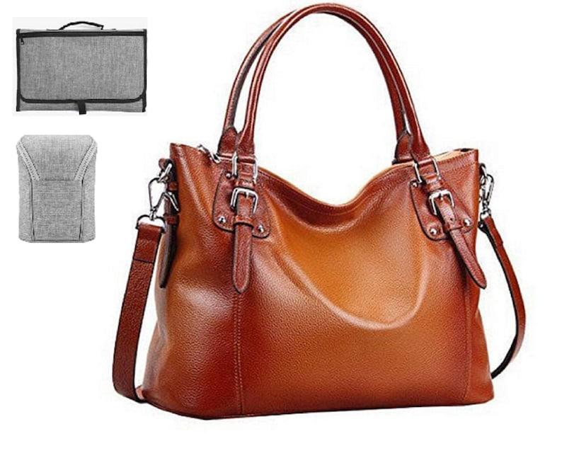 Leather Diaper Bag Diaper Bag Diaper Bag Girl Diaper Bag image 0
