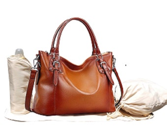 Leather Diaper Bag, Crossbody Leather Diaper Bag, Mommy Bag, Baby Bag, Nappy Bag, Leather Shoulder Tote Diaper Bag, Brown Diaper Bag