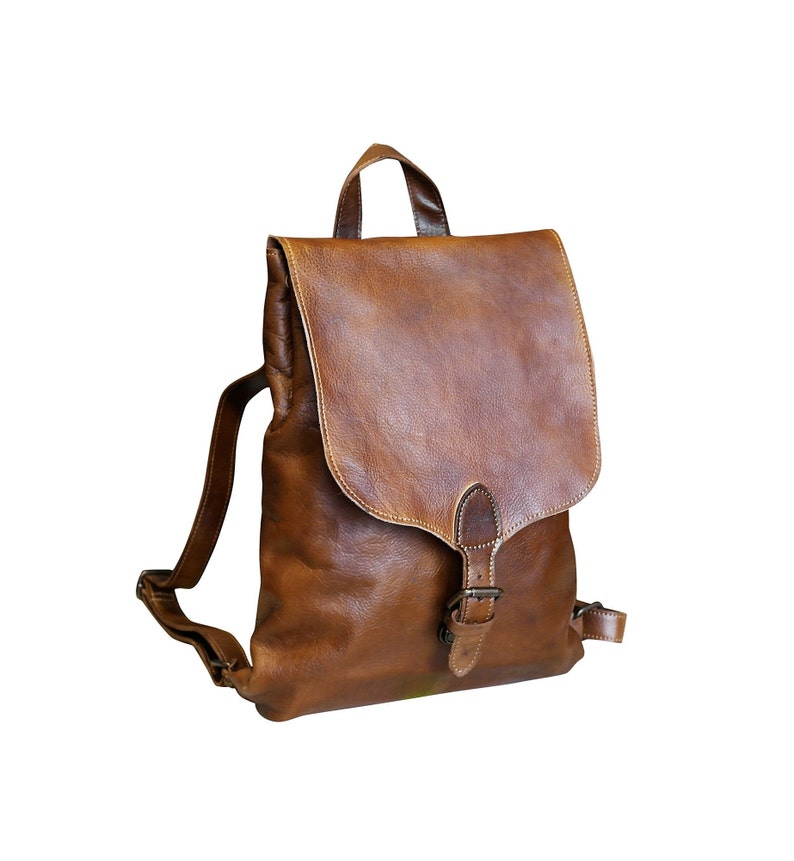 Leather Backpack Women Leather Backpack Purse Backpack Brown