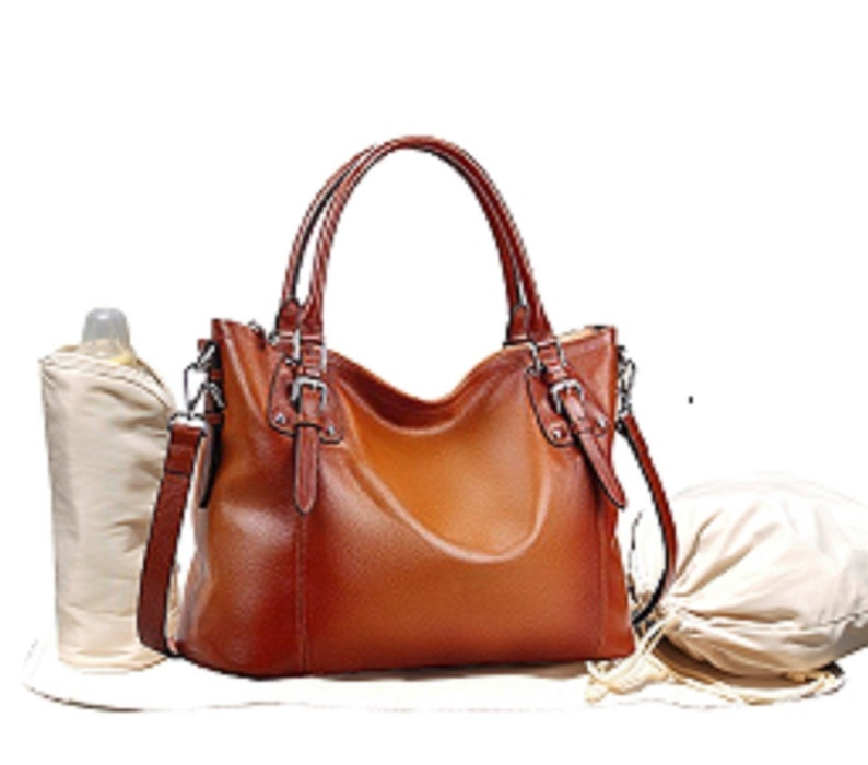 Leather Diaper Bag Diaper Bag Diaper Bag Girl Diaper Bag Brown