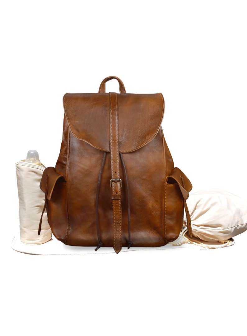f711454326 Leather Backpack Diaper Bag Leather Backpack Backpack Diaper