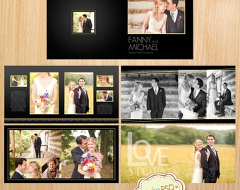 square wedding album template 12x12 10x10 8x8 24 pages etsy